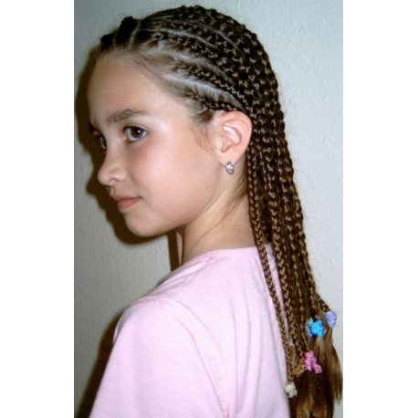 white girl cornrows